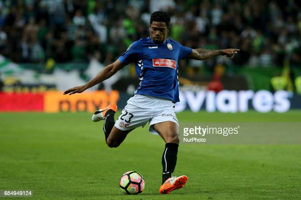 Nacionals forward Ricardo Gomes from Cape Verde during Premier League 2016/17 match between Sporting CP and CD Nacional at Alvalade Stadium in Lisbon...