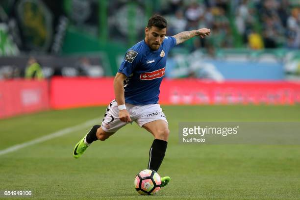 Nacionals forward Salvador Agra from Portugal during Premier League 2016/17 match between Sporting CP and CD Nacional at Alvalade Stadium in Lisbon...