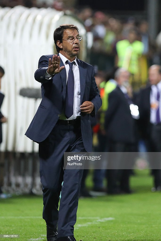 Nacional's head coach Manuel Machado during Premier League 2016/17 match between CD Nacional and SL Benfica at Choupana Stadium in Funchal on August...