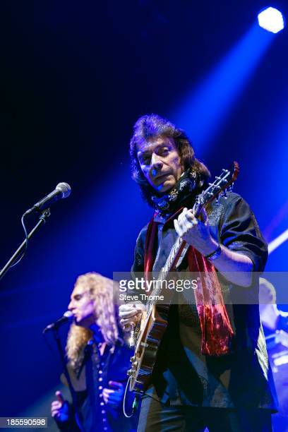 Nad Sylvan and Steve Hackett perform on stage at Symphony Hall on October 22 2013 in Birmingham England