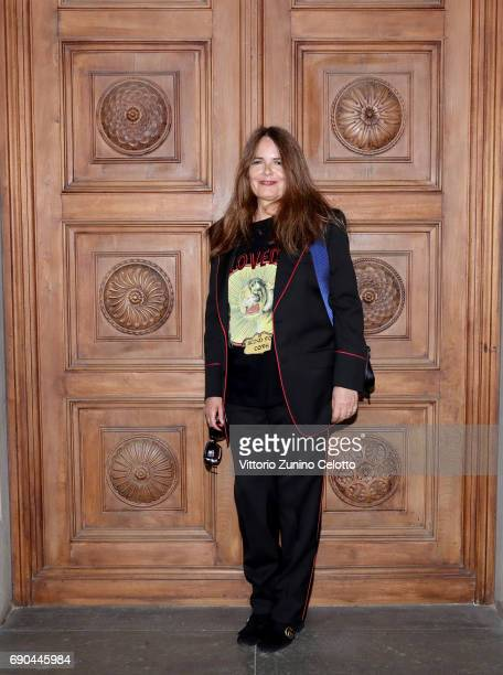 Nada arrives at the Gucci Cruise 2018 fashion show at Palazzo Pitti on May 29 2017 in Florence Italy