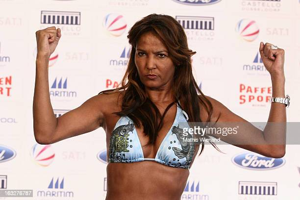 Naddel Abd El Farrag attends the Offical Weighing And Photocall of 'Das Grosse Sat1 Promiboxen' on March 6 2013 in Dusseldorf Germany