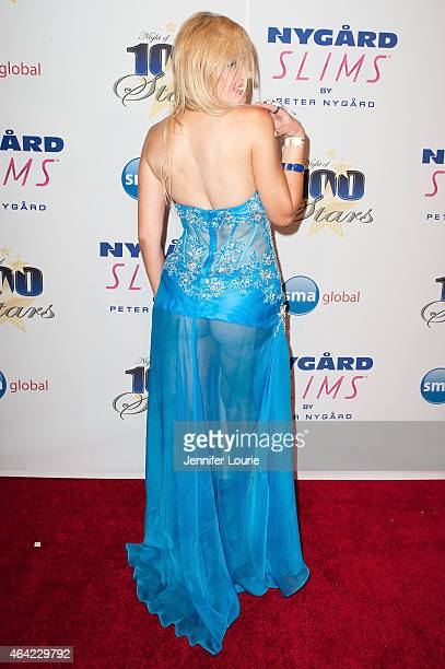 Nadeea arrives at The Norby Walters 25th Annual Night of 100 Stars Oscar Viewing Gala at The Beverly Hilton Hotel on February 22 2015 in Beverly...