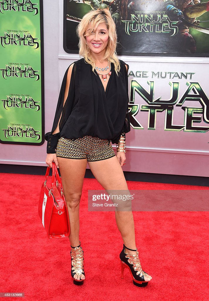 Nadeea arrives at the 'Teenage Mutant Ninja Turtles' at Regency Village Theatre on August 3, 2014 in Westwood, California.
