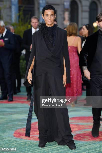 Nadege du Bospertus attends the Green Carpet Fashion Awards Italia 2017 during Milan Fashion Week Spring/Summer 2018 on September 24 2017 in Milan...