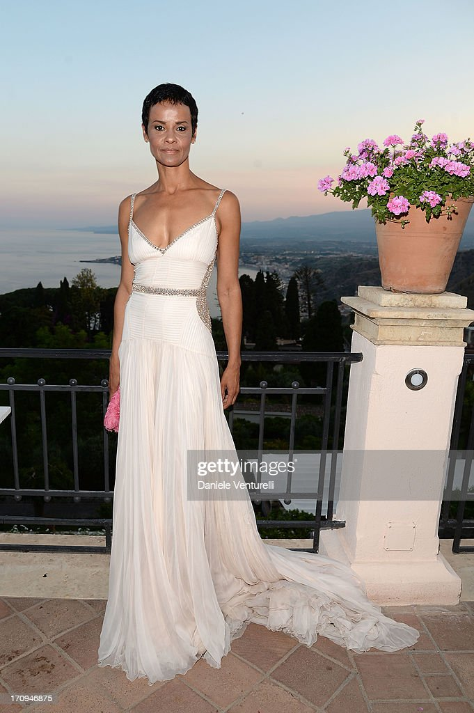 Nadege Dubospertus attends Taormina Filmfest 2013 2013 at Teatro Antico on June 20, 2013 in Taormina, Italy.