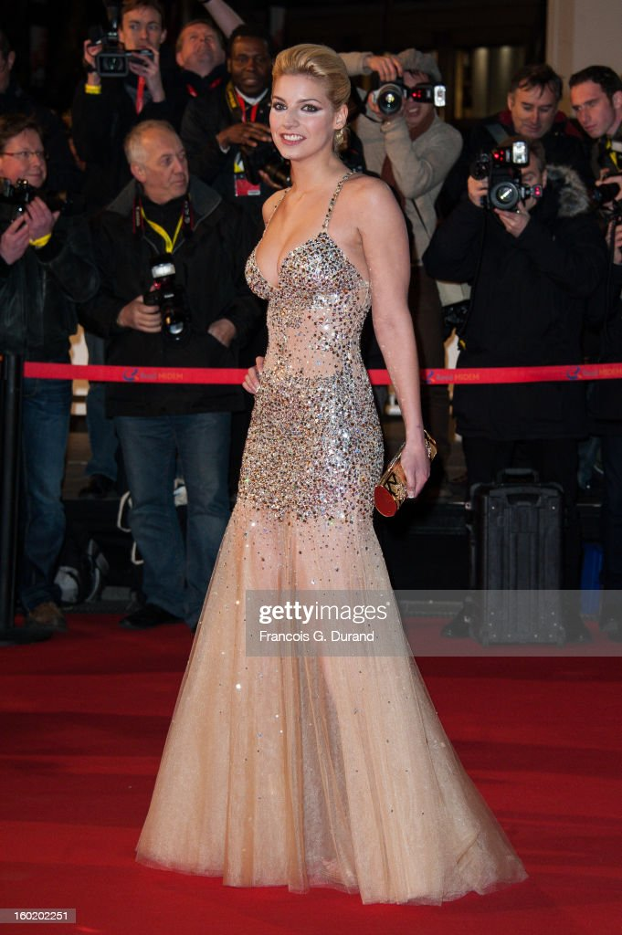 Nadege Lacroix attends the NRJ Music Awards 2013 at Palais des Festivals on January 26, 2013 in Cannes, France.