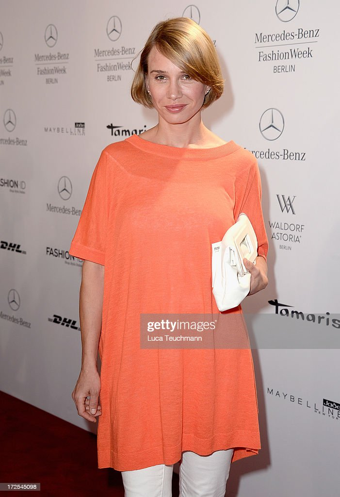 Nadeshda Brennicke attends the Minx By Eva Lutz show during Mercedes-Benz Fashion Week Spring/Summer 2014 at Brandenburg Gate on July 3, 2013 in Berlin, Germany.