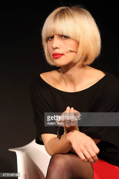 Nadezhda Nadya Tolokonnikova founding member of the Russian activist group Pussy Riot attends the republica conference on May 5 2015 in Berlin...