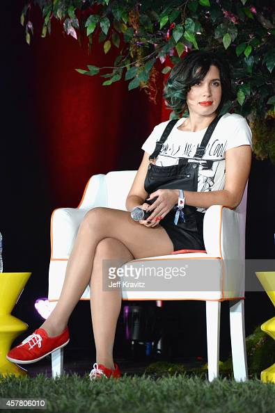 Nadezhda Tolokonnikova of Pussy Riot speaks onstage during day 1 of the 2014 Life is Beautiful festival on October 24 2014 in Las Vegas Nevada