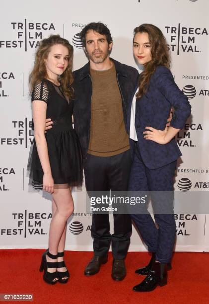 Nadia Alexander Chris Messina and Quinn Shephard attend the 'Blame' Premiere during 2017 Tribeca Film Festival at Cinepolis Chelsea on April 22 2017...