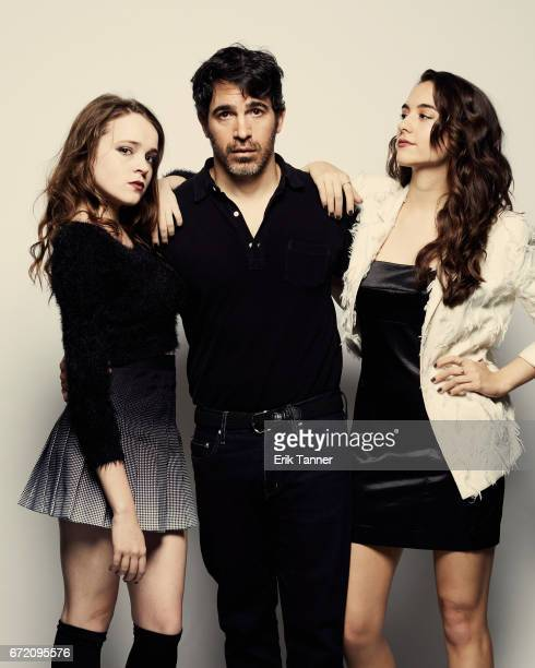 Nadia Alexander Chris Messina and Quinn Shephard from 'Blame' pose at the 2017 Tribeca Film Festival portrait studio on April 23 2017 in New York City