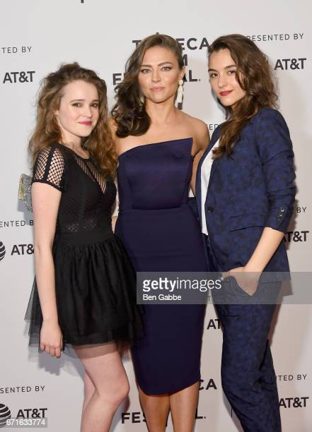 Nadia Alexander Trieste Kelly Dunn and Quinn Shephard attend the 'Blame' Premiere during 2017 Tribeca Film Festival at Cinepolis Chelsea on April 22...