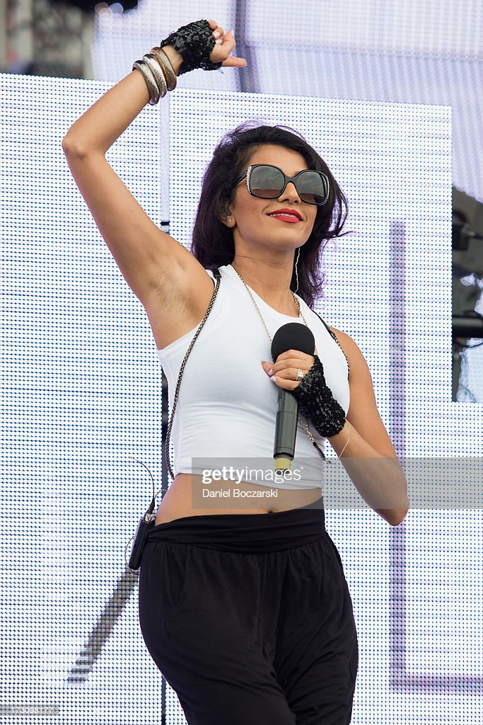 Nadia Ali performs during the 2013 Wavefront Music Festival at Montrose Beach on July 6, 2013 in Chicago, Illinois.