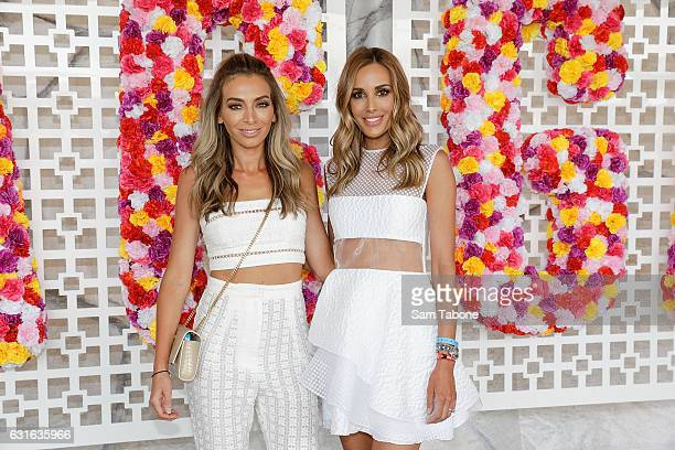 Nadia Bartel and Bec Judd attend Portsea Polo on January 14 2017 in Melbourne Australia