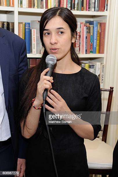 Nadia Basee Taha attends the Women In The World reception honoring appointment of UN Office on Drugs and Crime Goodwill Ambassador Nadia Murad on...