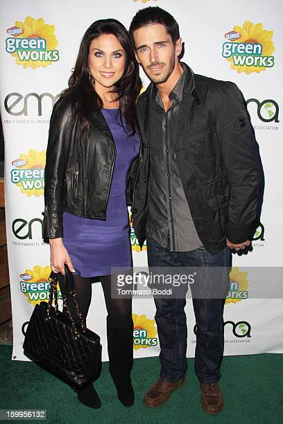 Nadia Bjorlin and Brandon Beemer attend the 'Green Housewives' screening party held at SUR Lounge on January 23 2013 in Los Angeles California