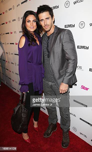 Nadia Bjorlin and Brandon Beemer attend the Star Magazine's 'Hollywood Rocks' Party held at the Playhouse Hollywood on April 4 2013 in Los Angeles...