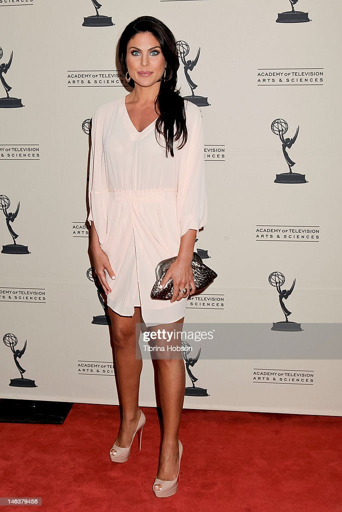 Nadia Bjorlin attends the 39th annual daytime Emmy Awards nominees reception at SLS Hotel on June 14, 2012 in Beverly Hills, California.