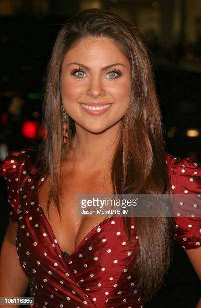 Nadia Bjorlin during 'Man of the Year' Los Angeles Premiere Arrivals at Mann's Chinese Theater in Hollywood California United States