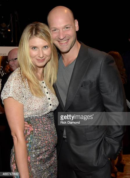 Nadia Bowers and Corey Stoll attend 'The Good Lie' Red Carpet at The Belcourt Theatre on September 19 2014 in Nashville Tennessee