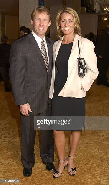 Nadia Comaneci and husband during Muscle Team Benefit Party at Beverly Plaza Hotel in Los Angeles CA United States
