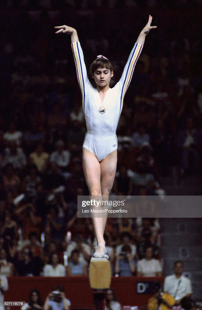 Nadia Comaneci at the 1976 Montreal Olympics