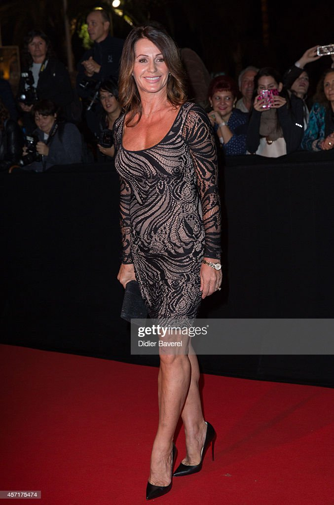 Nadia Comaneci attends the opening red carpet party MIPCOM 2014 at Hotel Martinez on October 13 2014 in Cannes France