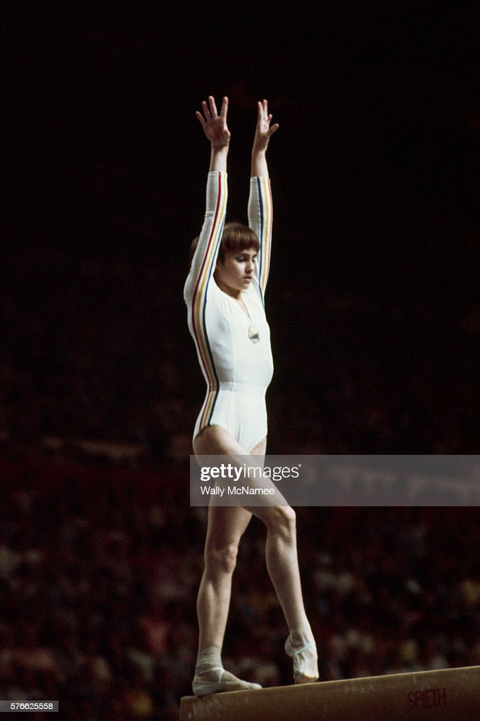 Nadia Comaneci performs in the balance beam competition at the 1976 Olympics in Montreal She was the first Olympic gymnast to score a perfect 10