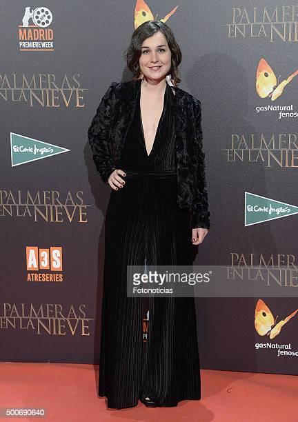 Nadia de Santiago attends the 'Palmeras en la Nieve' Premiere at Kinepolis Cinema on December 9 2015 in Madrid Spain