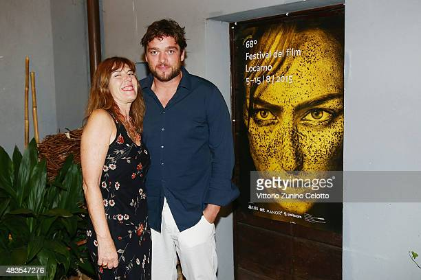 Nadia Dresti and Ronald Zehrfeld attend the German Films Reception at Osteria Chiara during the 68th Locarno Film Festival on August 8 2015 in...