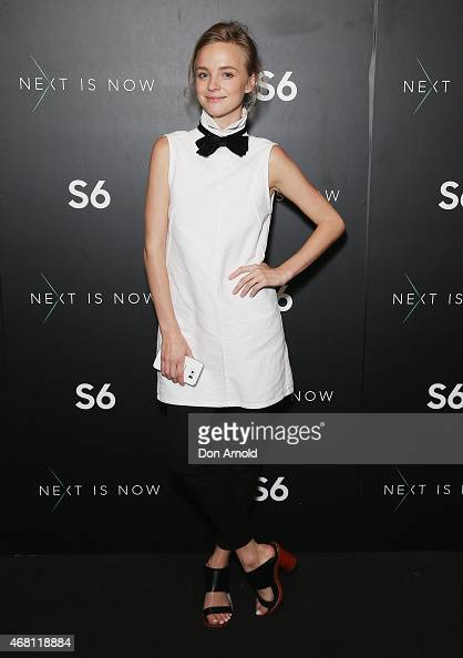 Nadia Fairfax poses at the launch of the Samsung Galaxy S6 and S6 edge on March 30 2015 in Sydney Australia
