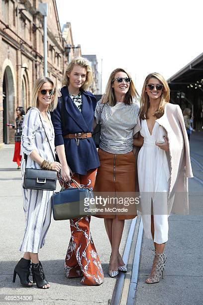 Nadia Fairfax Zanita Whittington Mandy Shadforth and Kate Waterhouse attend MercedesBenz Fashion Week Australia 2015 at Carriageworks on April 13...