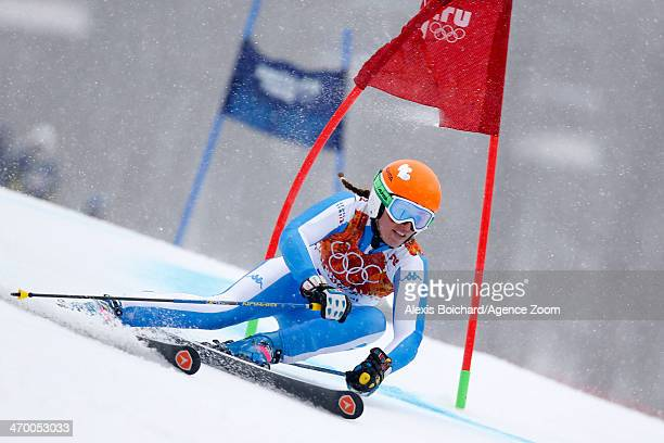 Nadia Fanchini of Italy competes during the Alpine Skiing Women's Giant Slalom at the Sochi 2014 Winter Olympic Games at Rosa Khutor Alpine Centre on...