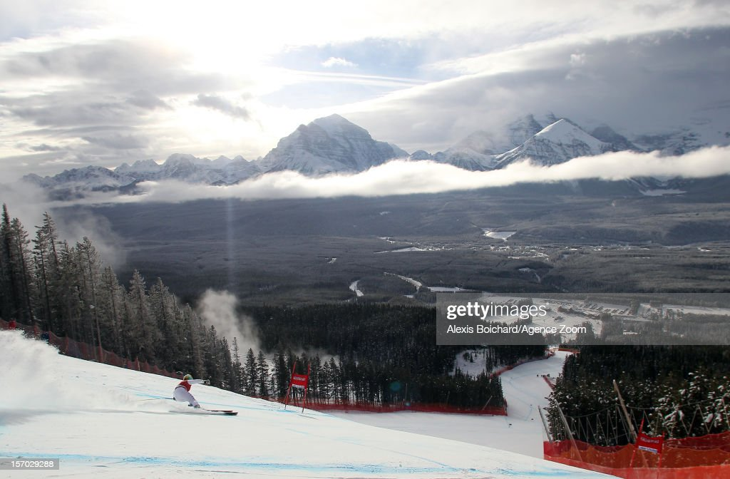 <a gi-track='captionPersonalityLinkClicked' href=/galleries/search?phrase=Nadia+Fanchini&family=editorial&specificpeople=792695 ng-click='$event.stopPropagation()'>Nadia Fanchini</a> of Italy competes during the Audi FIS Alpine Ski World Cup Women's Downhill training on November 27, 2012 in Lake Louise, Canada.