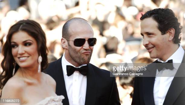 Nadia Fares and Jason Statham during 2007 Cannes Film Festival 'Les Chansons d'Amour' Premiere at Palais des Festival in Cannes France