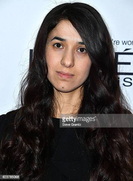 Nadia Murad arrives at the Glamour Women Of The Year 2016 at NeueHouse Hollywood on November 14 2016 in Los Angeles California