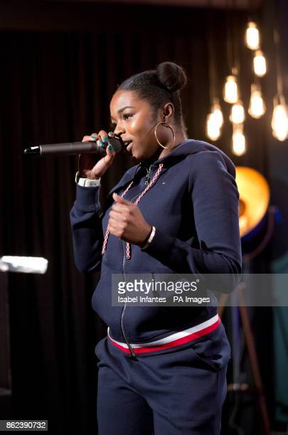 Nadia Rose performing at the Mobo Awards 2017 Nominations at the YouTube Space London