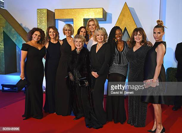 Nadia Sawalha Kaye Adams Jane Moore Gloria Hunniford Andrea McLean Penny Lancaster Sherrie Hewson Jamelia Coleen Nolan and Katie Price attend the...
