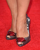 Nadia Sawalha shoe detail attends the Pride of Britain awards at The Grosvenor House Hotel on September 28 2015 in London England