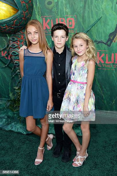 Nadia Turner Hayden Summerall and Ruby Rose Turner attend the premiere of Focus Features' 'Kubo and the Two Strings' at AMC Universal City Walk on...