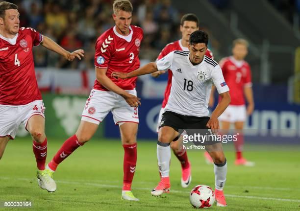 Nadiem Amiri bramka goal during the UEFA European Under21 Championship Group C match between Germany and Denmark at Krakow Stadium on June 21 2017 in...