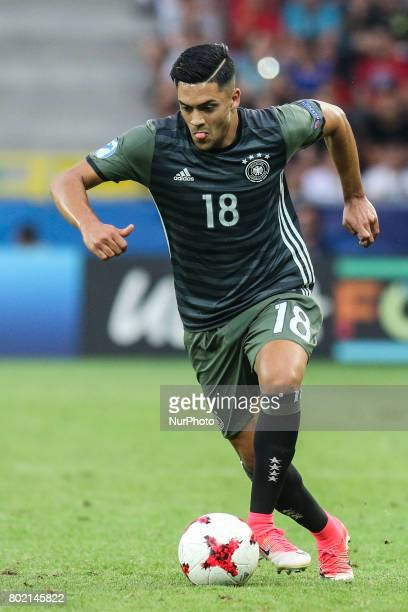 Nadiem Amiri during the UEFA European Under21 Championship Semi Final match between England and Germany at Tychy Stadium on June 27 2017 in Tychy...