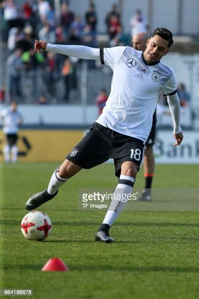 Nadiem Amiri of Germany controls the ball during the International Friendly match between Germany U21 and Portugal U21 at GaziStadion on March 28...