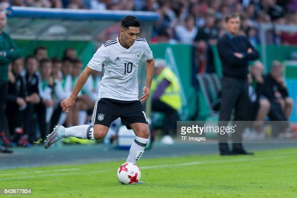 Nadiem Amiri of Germany controls the ball during the U21 UEFA 2018 EM Qualifying match between Germany and Kosovo at the Stadion Bremer Bruecken in...