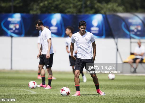 Nadiem Amiri of Germany during the German U21 national team training session at Official Training Ground Wielczka on June 26 2017 in Krakow Poland