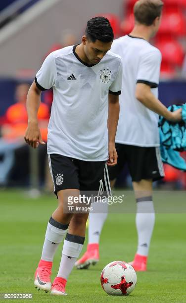 Nadiem Amiri of Germany in action during the UEFA European Under21 Championship Group C match between Germany and Czech Republic at Tychy Stadium on...