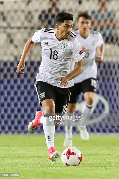 Nadiem Amiri of Germany in action during the UEFA European Under21 Championship Group C match between Germany and Denmark at Krakow Stadium on June...