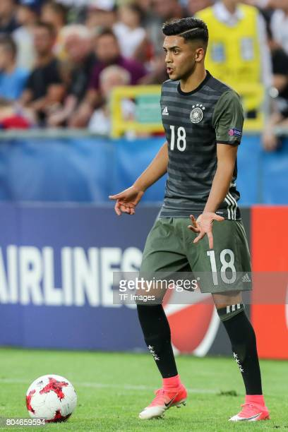 Nadiem Amiri of Germany in action during the UEFA European Under21 Championship Semi Final match between England and Germany at Tychy Stadium on June...
