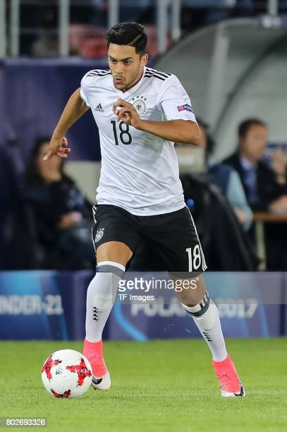 Nadiem Amiri of Germany in action during the UEFA U21 championship match between Italy and Germany at Krakow Stadium on June 24 2017 in Krakow Poland